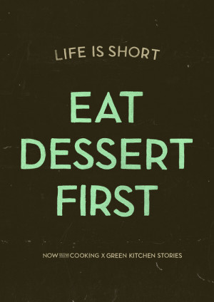 quote food Typography Poster