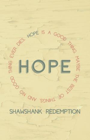 Shawshank Redemption Quote Poster