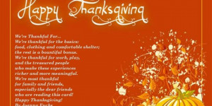 Thanksgiving Poem About Family