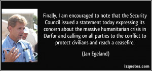 Jan Egeland Quotes