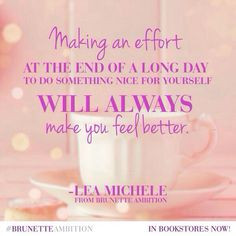 ... yourself #BrunetteAmbition Quotes, frases and Tips #LeaMichele More