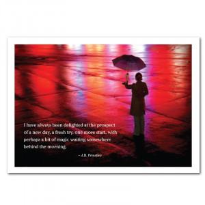 Bit of Magic New Years Card -J.B. Priestley quote