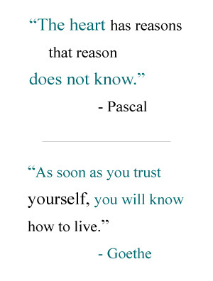 Pasca and Goethe Quotes )