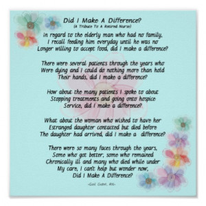 Retired Nurse Poem