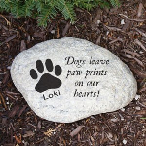 Personalized Pet Memorial Stepping Stone for Dogs