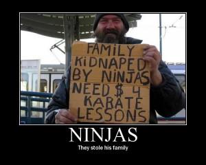 Funny Ninja vs. Samurai