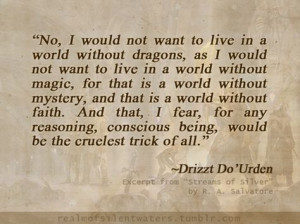 Drizzt from R.A. Salvatore More