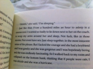 if people were rain, i was drizzle and she was a hurricane.