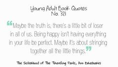 Young Adult Book Quotes Sisterhood of the Traveling Pants More