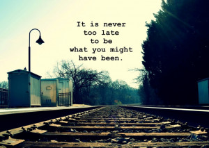 Inspirational Quotes, George Eliot, Train tracks photography print ...