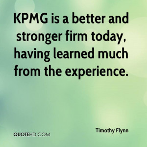 KPMG Is A Better And Stronger Firm Today, Having Learned Much From The ...