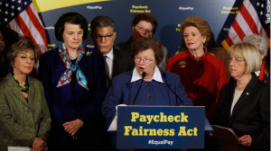 Sen. Barbara Mikulski speaks in favor of the Paycheck Fairness Act ...