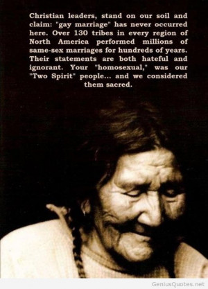 Native americans about marriage