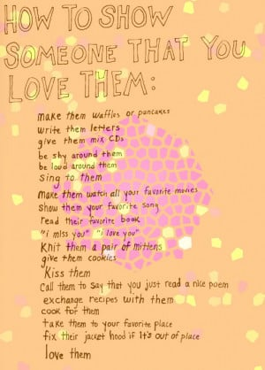 how to you love someone