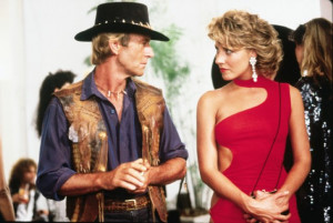 ... titles crocodile dundee names paul hogan linda kozlowski still of paul
