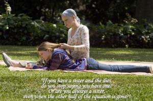 The bond between sisters.
