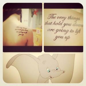 disney #dumbo #cartoon #quote #tattoo