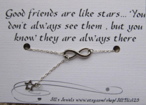 Infinity and Dainty Tiny Star Charm Necklace and Quote Inspirational ...