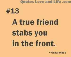 Oscar Wilde Quote - True Friend