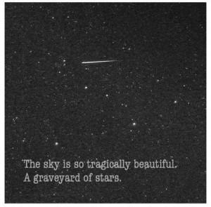 Stars, graveyard, quote