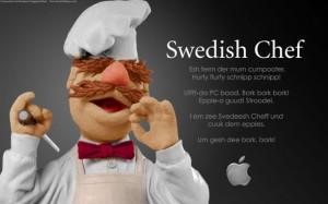 Swedish Chef: Esh ferrn der murn cumpooter.