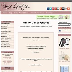 Funny Dance Quotes | Cute & funny quotations and sayings about dance ...