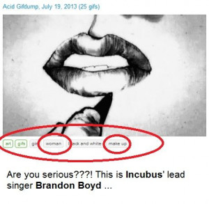 ... getting it wrong boy girl confusion make up ? incubus brandon boyd