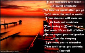 Touching farewell speech poem to boss at work