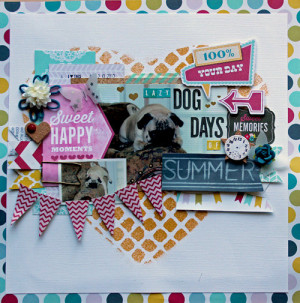 Lazy Dog Days of Summer*LRS August 2013 Kit*