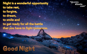 inspirational message good night quote night is a wonderful ...