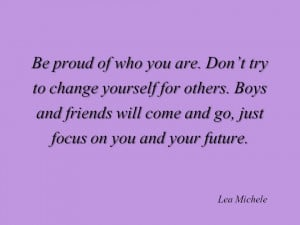 Be proud of who you are