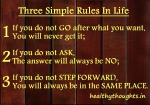 Three Simple Rules Life Quotes