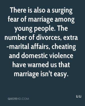 There is also a surging fear of marriage among young people. The ...
