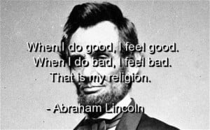 Abraham lincoln quotes sayings meaningful religion best