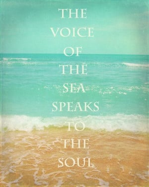 Beach Quote Art Print