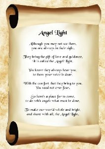 Inspirational Poem Angel Light Poster Print: Amazon.co.uk: Kitchen ...