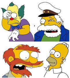 Krusty Sea Captain Groundskeeper Willie Homer