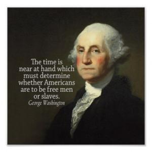 George Washington Quote on Slavery Poster