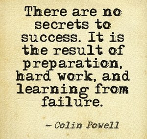 ... , and learning from failure. -Colin Powell #quote http://c2online.ca
