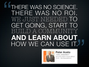There Was No Science.There Was No ROI ~ Boldness Quote