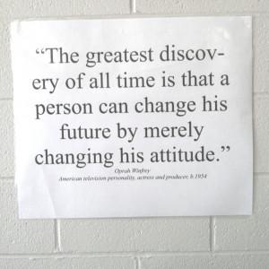 Change your attitude!