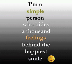 Simple Person   Happiness Picture Quotes