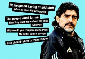 Maradona's most controversial Pele quotes