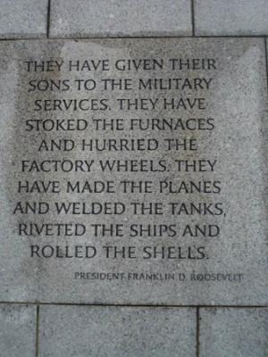 National World War II Memorial Photo: FDR quote