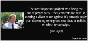 The most important political task facing the out-of-power party - the ...