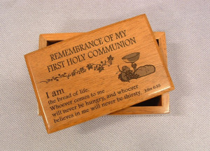 Wooden Box - Remembrance of First Holy Communion
