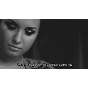 gif Demi Lovato girl quote Black and White life text depression quotes ...