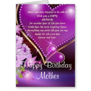 Happy Birthday Mom Cards