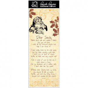 Quick Quotes - Christmas Collection - Vellum Quote Strip - Dear Santa