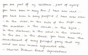 you] Charles Dickens, Great Expectations